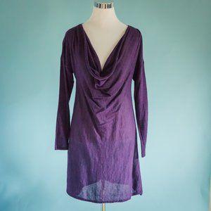 Eileen Fisher Medium Purple Alpaca Tunic Sweater